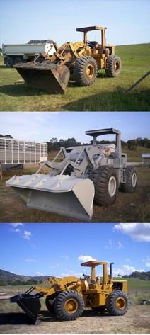 Kompletní renovace bagru - před a po pískování