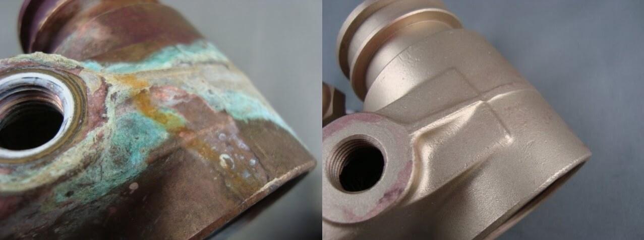 Odstranění barvy na kovu - pískováním