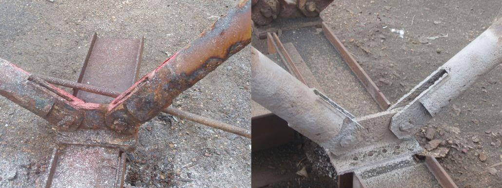 Odstranění koroze - pískováním