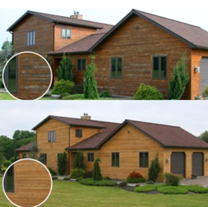 renovace dřevěného domu pískováním