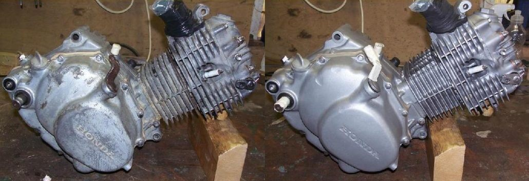 Renovace motoru - pískováním
