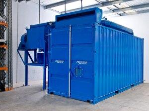 Tryskací komora modrá