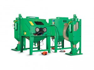 Profi tryskací kabina (zelená)