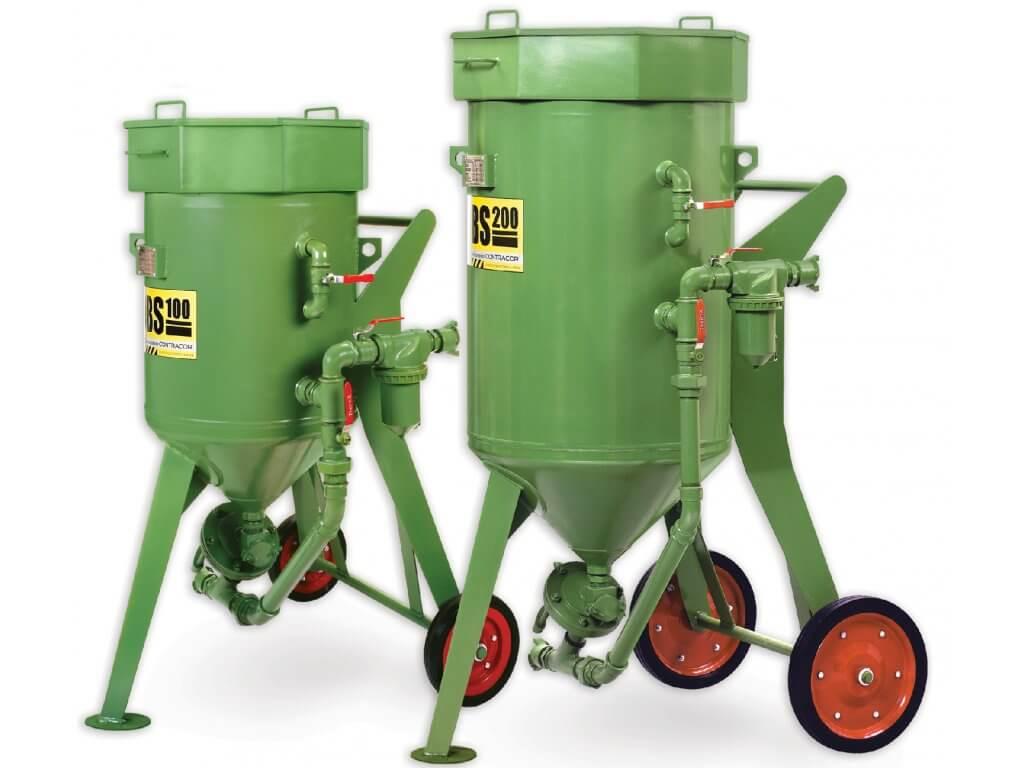 Zelené mobilní pískovačky
